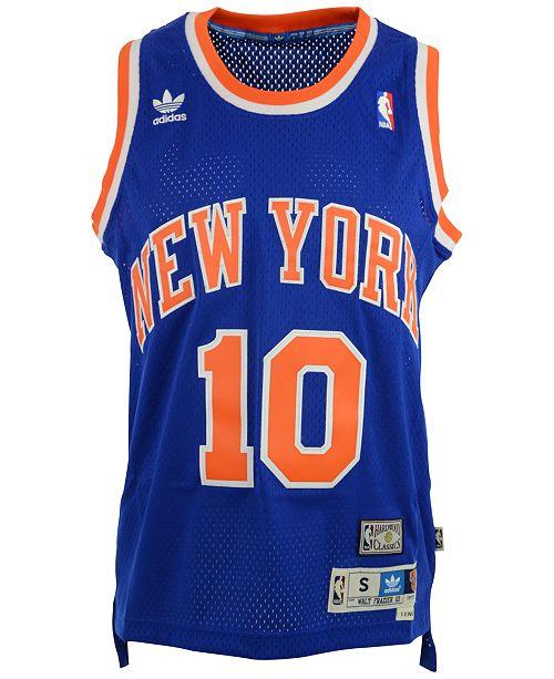 new product f2c36 43613 adidas Men's Walt Frazier New York Knicks Retired Player ...