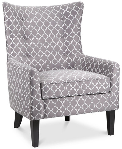 Brie Printed Fabric Accent Chair Quick Ship