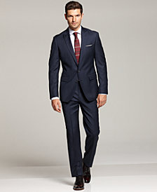 Ryan Seacrest Distinction Navy Suit Separates, Neck Tie & Dress Shirt