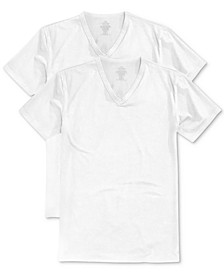 Men's Stretch Cotton V-Neck Undershirt 2-Pack