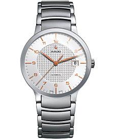 Rado Men's Swiss Automatic Centrix Stainless Steel Bracelet Watch 38mm R30939143