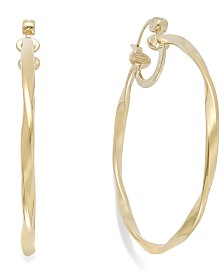 Simone I. Smith Twisted Large Hoop Earrings in 14k Gold Vermeil over Sterling Silver