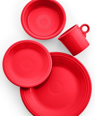 main image  sc 1 st  Macyu0027s & Fiesta Scarlet 4-Piece Place Setting - Dinnerware - Dining ...