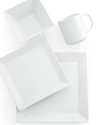 This item is part of the The Cellar Whiteware Square Collection Created for Macyu0027s  sc 1 st  Macyu0027s & The Cellar 12-Piece Square Set Created for Macyu0027s - Dinnerware ...