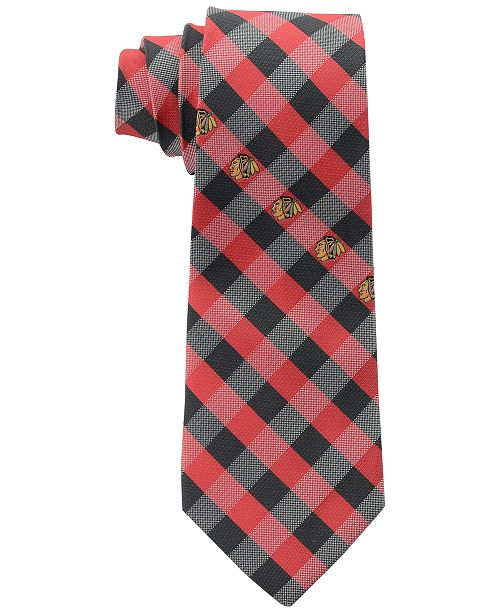 Chicago Blackhawks Checked Tie