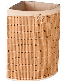 Honey Can Do Wicker Corner Laundry Hamper