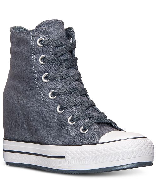 e944ce4db9d ... Converse Women s Chuck Taylor All Star Platform Plus Sparkle Hi Casual  Sneakers from Finish ...