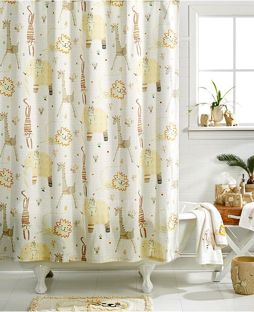 Creative Bath Accessories Animal Crackers Shower Curtain