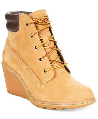 timberland s amston wedge booties boots shoes