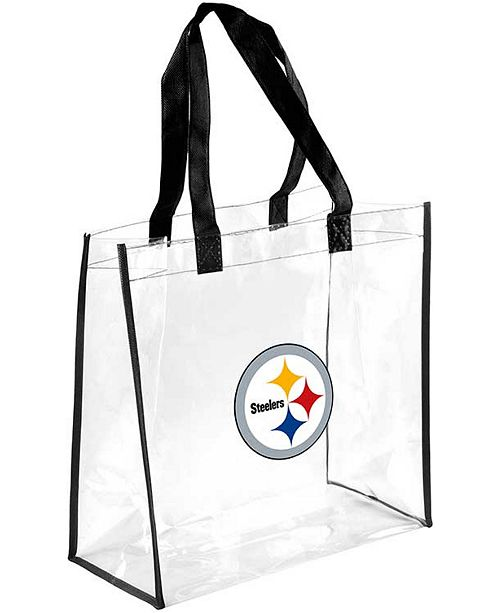 the latest 75bc6 8d7ae Forever Collectibles Pittsburgh Steelers Clear Tote Bag ...