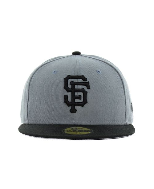 separation shoes dfb99 1038a ... New Era San Francisco Giants FC Gray Black 59FIFTY Cap ...