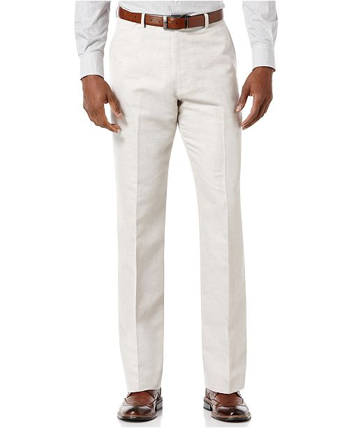 Perry Ellis Men S Big And Tall Linen Blend Pants Amp Reviews