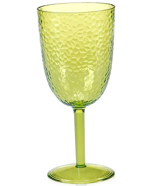 Certified International Lime Green Acrylic Goblet