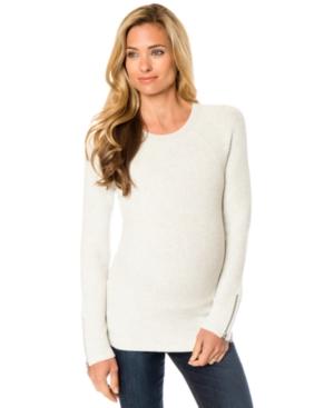 A Pea In The Pod Maternity Zip-Cuff Sweater plus size,  plus size fashion plus size appare