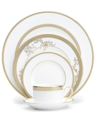 Dinnerware, Lace Gold 5 Piece Place Setting