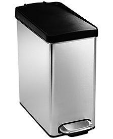 simplehuman Trash Can, 10 Liter Profile Step