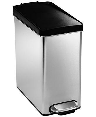 simplehuman trash can, 10 liter profile step - bathroom