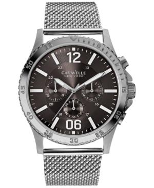 Caravelle New York by Bulova Men's Chronograph Stainless Steel Mesh Bracelet Watch 44mm 43A129