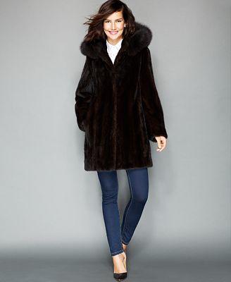 Hooded Mink Coat