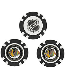 Team Golf Chicago Blackhawks 3-Pack Poker Chip Golf Markers