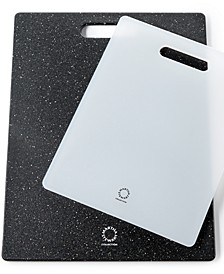 2 Piece Black & White Poly Cutting Board Set, Created for Macy's,