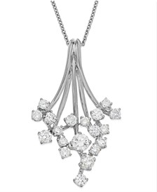 Classique by EFFY® Diamond Waterfall Pendant Necklace in 14k Gold or White Gold (3/4 ct. t.w.)