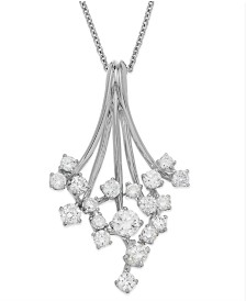 Classique by EFFY Diamond Waterfall Pendant Necklace in 14k Gold or White Gold (3/4 ct. t.w.)