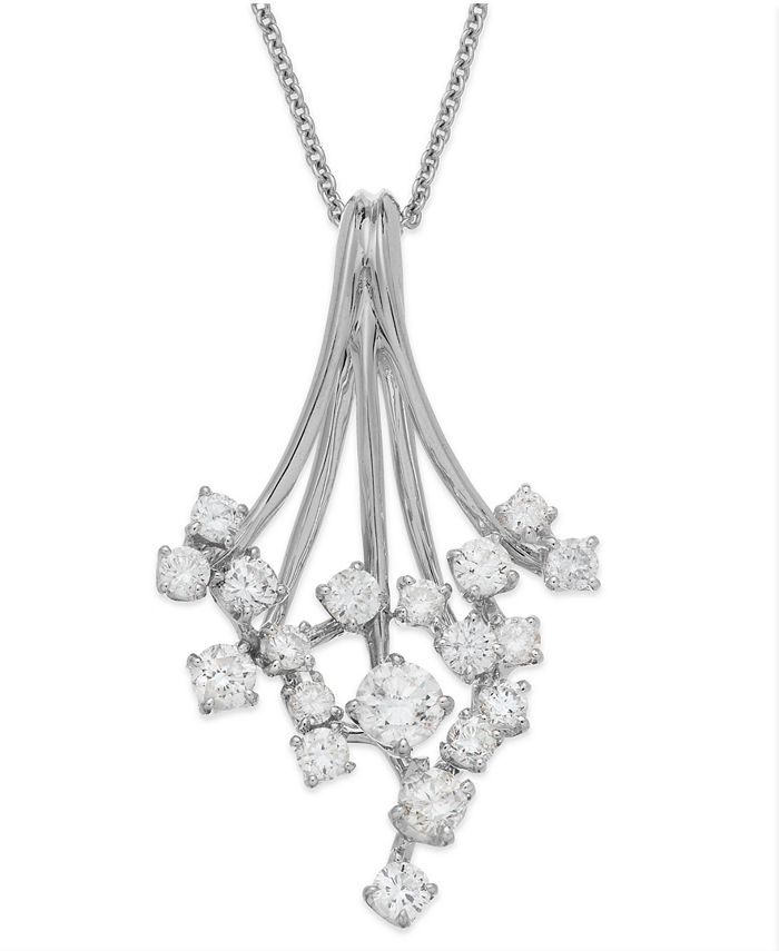 EFFY Collection - Diamond Waterfall Pendant Necklace in 14k Gold or White Gold (3/4 ct. t.w.)
