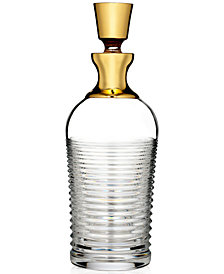 Waterford Mixology Mad Men Edition Circon Decanter with Gold Band