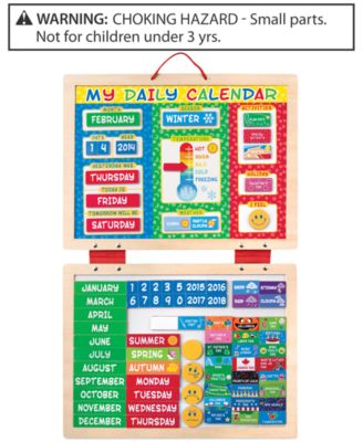Melissa and Doug Kids' My First Daily Calendar Magnetic Toy