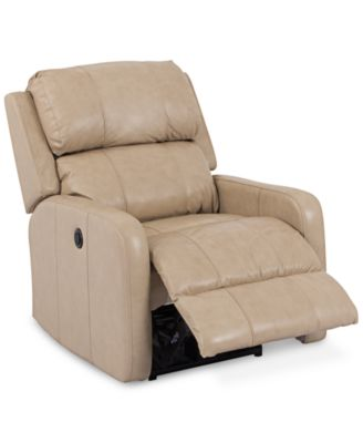 Colton Leather Power Recliner  sc 1 st  Macyu0027s : beige leather recliner - islam-shia.org