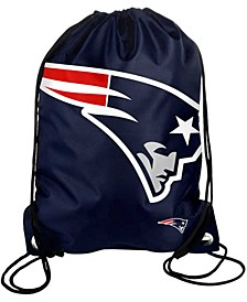 New England Patriots Big Logo Drawstring Bag