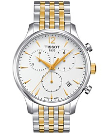 Men's Swiss Chronograph Tradition Two-Tone Stainless Steel Bracelet Watch 42mm T0636172203700