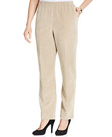 Petite Classics Corduroy Straight-Leg Pants