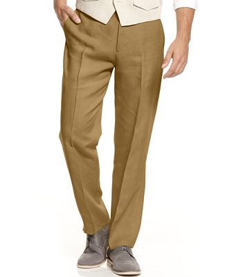 Tasso Elba Men's 100% Linen Pants, Created for Macy's - Men - Macy's