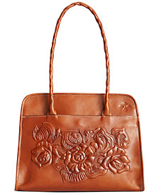 Patricia Nash Paris Tool Rose Leather Shoulder Bag