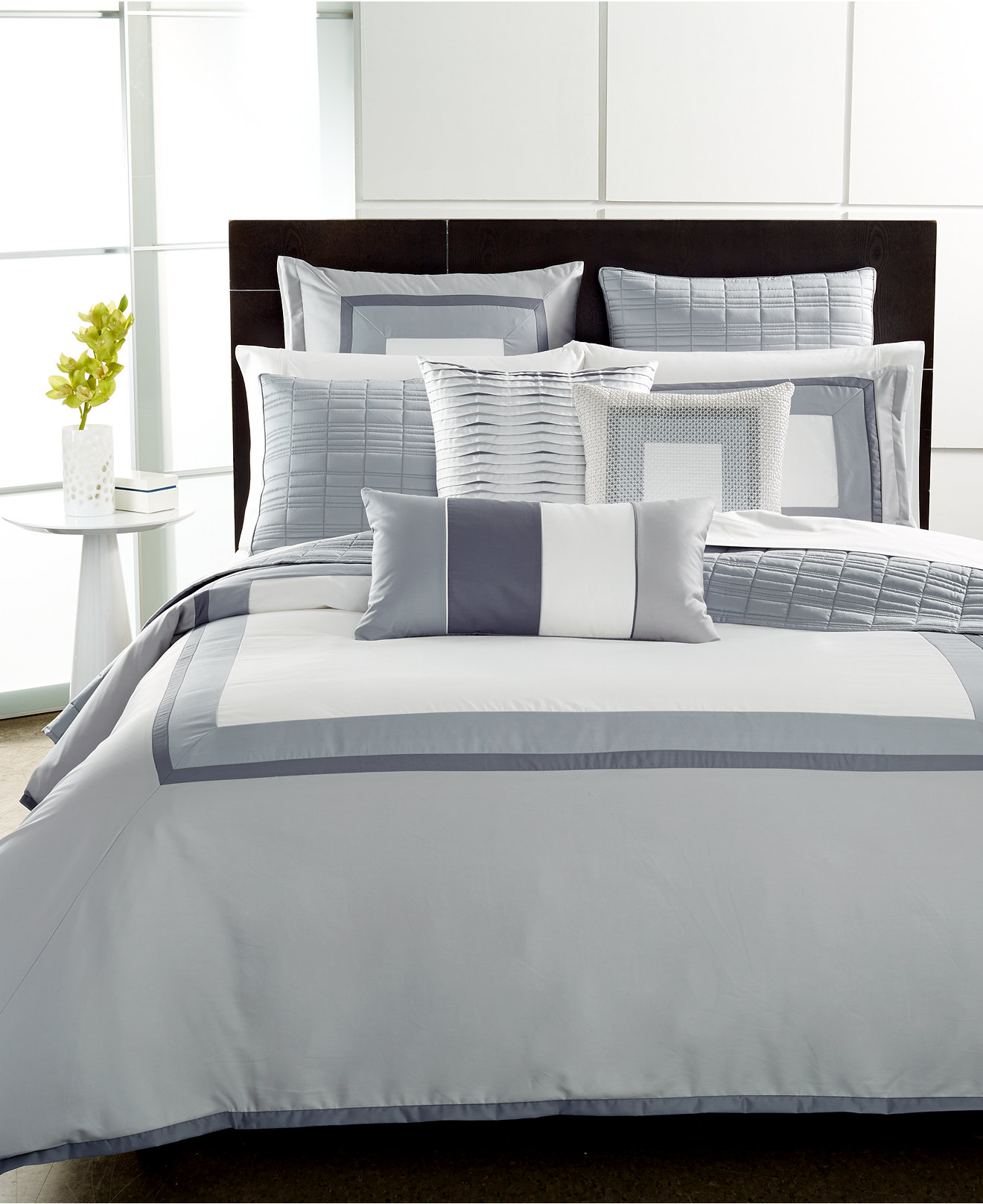 Modern Bedroom Comforters Closeout Hotel Collection Modern Frame Bedding Collection Only