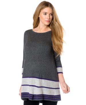 Design History Maternity Striped Peplum Tunic Sweater plus size,  plus size fashion plus size appare