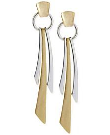 Two-Tone Geometric Linear Earrings