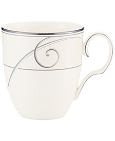 Dinnerware, Platinum Wave Mug
