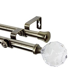 Faceted Double Curtain Rod Collection