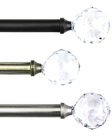 Faceted Single Rod Window Hardware Collection
