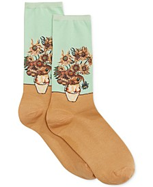 Women's Sunflower Artist Series Fashion Crew Socks