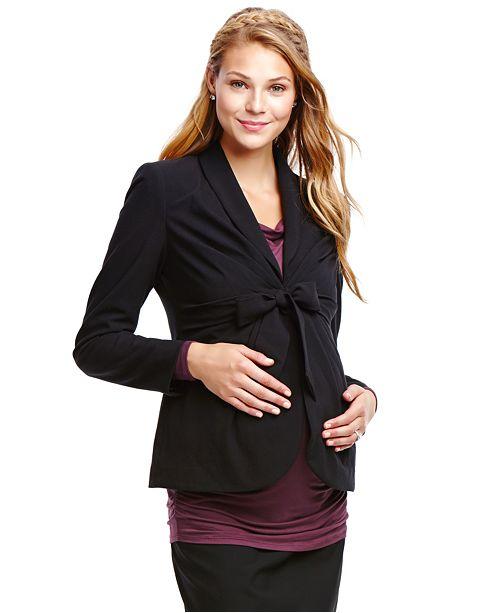 Jessica Simpson Maternity Tie-Front Blazer