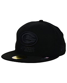 New Era Green Bay Packers NFL Black on Black 59FIFTY Fitted Cap