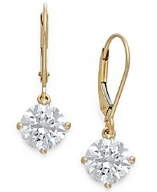 Swarovski Cubic Zirconia Leverback Earrings in 14k Gold (4-1/2 ct. t.w.)