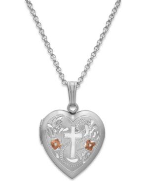 Painted Cross Heart Locket...