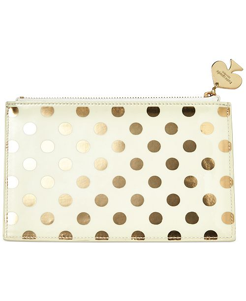 100% authentic b5361 aeca4 New York Pencil Pouch, Gold Dots