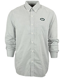 Cutter & Buck Men's New York Jets Tattersall Dress Shirt