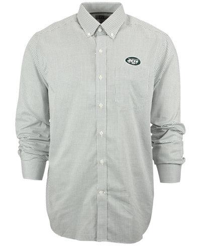 Cutter & Buck Men's New York Jets Tattersall Dress Shirt